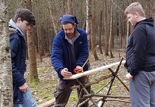 teenagers working outdoors