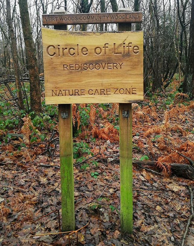 CLR Woodland Sign
