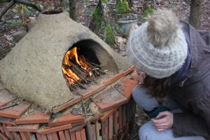 Pizza oven! - find out more about our woodland site!