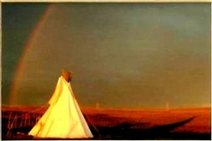 My parents tipi in at the Chipps