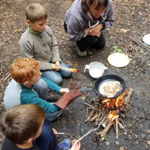 Learn how to make fires and cook over the fire!