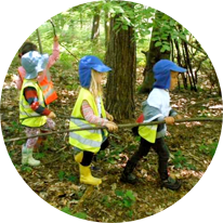 Forest School sessions - creating wonder and imagination!